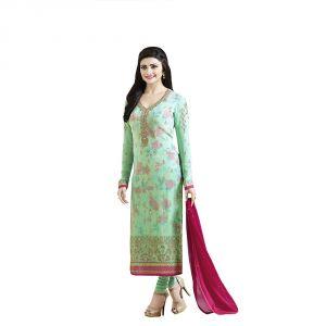 fc410f3b55 Buy Bollywood Replica Party Wear Prachi Desai Cyan Colour Georgette  Straight Semi-Stitched Suit online