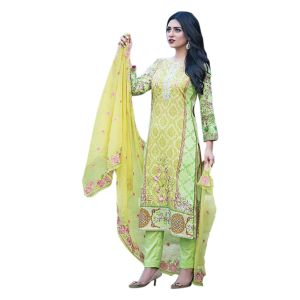 30d5876a Buy Uac-by 99pockets Green Pure Cotton Lawn Suit With Net Dupatta-(product  Code-kk007) Online | Best Prices in India: Rediff Shopping
