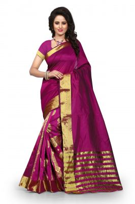 Buy Holyday Womens Poly Cotton Self Design Saree, Red (tamasha_gehana_maroon) online