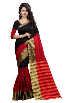 Buy Holyday Womens Silk Thread Saree_ Dark Red (with Blouse) online