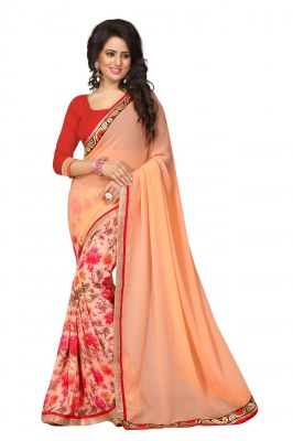 Buy Holyday Womens Georgette Saree, Orange (ayesha_beauty_tarzan) online