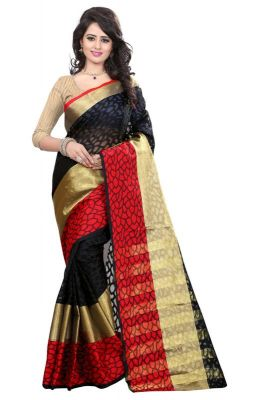 Buy Holyday Womens Brasso Thread Saree_ Dark Red (with Blouse) online