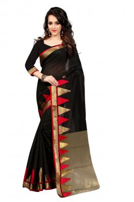 Buy Holyday Womens Raw Silk Saree, Red (haka_piramid_red) online