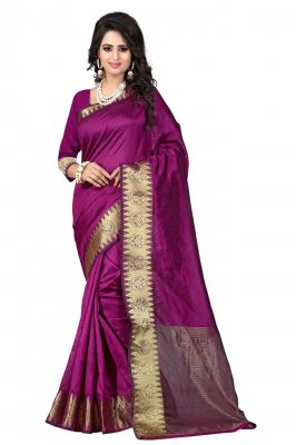 Buy Holyday Womens Cotton Silk Saree, Pink (raj_suryam_mazenta) online