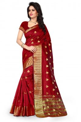 Buy Holyday Womens Cotton Silk Saree, Red (tamasha_butti_redd) online