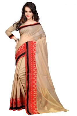 Buy Holyday Womens Poly Cotton Saree, Red (nirja_sweet_red) online