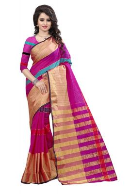 Buy Holyday Womens Banarasi Silk Thread Saree_ Rose Pink (with Blouse) online