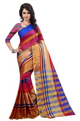 Buy Holyday Womens Banarasi Silk Thread Saree_ Dark Sunsets (with Blouse) online