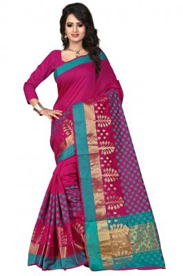 Buy Holyday Womens Poly Cotton Saree, Pink (raj_pari_mazanta) online