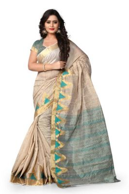 Buy Holyday Womens Cotton Silk Self Design Saree, Navy Blue (raj_tringal_navy Blue) online