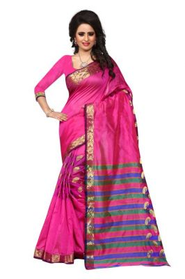 Buy Holyday Womens Tassar Silk Self Design Saree, Pink (sandy_kery_pink) online