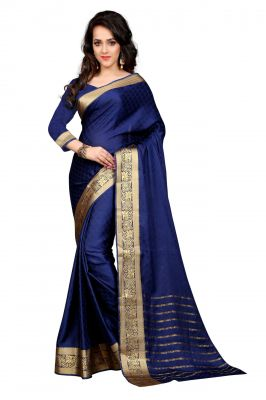 Buy Holyday Womens Cotton Saree, Blue (sharma_crep_blue) online