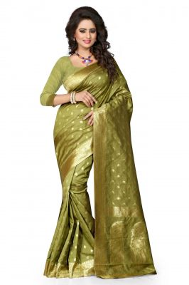 Buy Holyday Womens Cotton Saree, Mehandi (sharma_butterfly_mehndi) online
