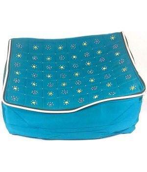 Buy Irin Handcrafted Blue Cotton Saree Cover online