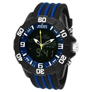Buy Jack Rachel Men Black Analog Digital Watch online