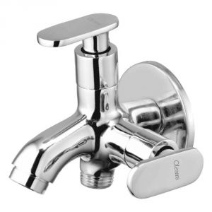 Buy Oleanna Metro Brass 2 In1 Bib Cock Silver Taps & Faucets online