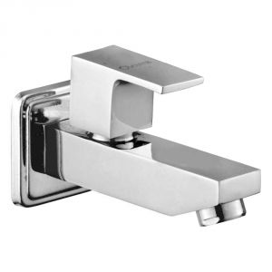 Buy Oleanna Square Brass Long Body Silver Taps & Faucets online