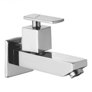 Buy Oleanna Kubix Brass Long Nose Silver Taps & Faucets online