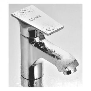 Buy Oleanna Global Brass Single Lever Basin Mixer Silver Water Mixer online
