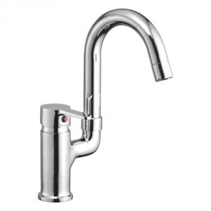 Buy Oleanna Orange Brass Single Lever Sink Mixer Table Mounted Silver Water Mixer online