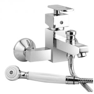 Buy Oleanna Kubix Brass Single Lever Telephoice Mixer Silver Water Mixer online