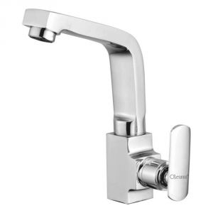 Buy Oleanna Speed Brass Swan Neck Silver Water Mixer online