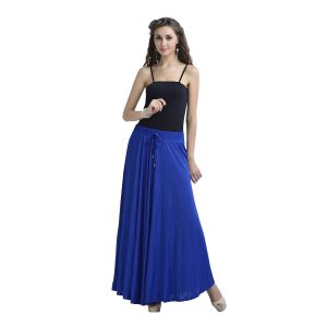Buy Zola Women's Lycra Royal Blue Color Flared Skirt 391365-rb-free online