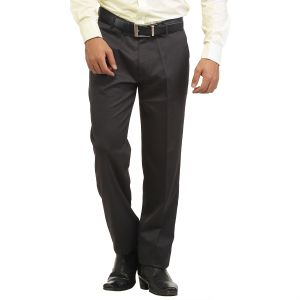 Buy Inspire Charcoal Grey Slim Fit Formal Trouser online