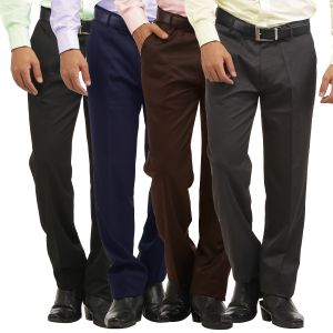 Buy Gwalior Pack Of 4 Stitched Formal Trousers online