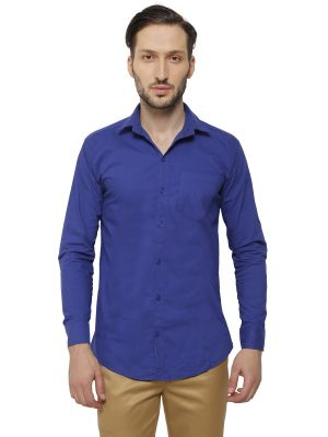 Buy Inspire Men's Royal Blue Casual Shirt online