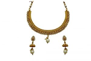 Buy La Trendz Designer White Stone Delicate Necklace Set For Women(lt1508w) online