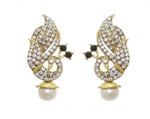 Buy La Trendz Designer White Peacock Earring For Girls And Women(lt2004) online