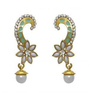 Buy La Trendz Blue With Tilak Pearl Earring For Girls And Women(lt2006) online