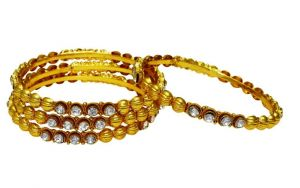 Buy La Trendz Daimond Studed Copper Bangles For Women(lt2387) online
