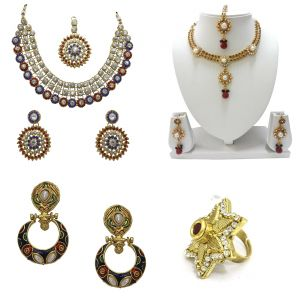 Buy La Trendz Ethnic Polki Jewellery Combo For Women - Ltcm20 online