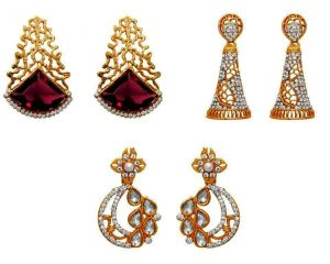 Buy La Trendz Engagement Special Earring Combo Set Pf 3 online