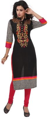 Buy Padmini Unstitched Printed Cotton Kurti Fabrics (product Code - Dtafpuregold3001) online