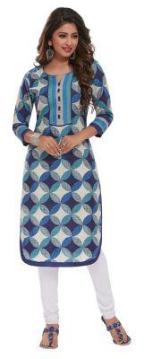 Buy Padmini Unstitched Printed Cotton Kurti Fabrics (product Code - Dtafpuregold3004) online