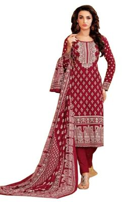 Buy Padmini Unstitched Printed Cotton Dress Material (product Code - Dtsjkashmiricot1005) online