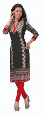 Buy Padmini Unstitched Printed Cotton Kurti Fabrics (product Code - Dtafpuregold3006) online