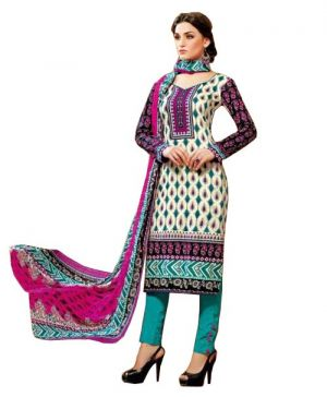 Buy Padmini Unstitched Printed Cotton Dress Material (product Code - Dtsjkashmiricot1009) online