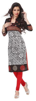 Buy Padmini Unstitched Printed Cotton Kurti Fabrics (product Code - Dtafpuregold3013) online