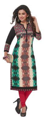 Buy Padmini Unstitched Printed Cotton Kurti Fabrics (product Code - Dtafpuregold3018) online