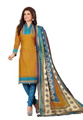 Buy Padmini Unstitched Printed Cotton Dress Material (product Code - Dtrfaaliya1001) online