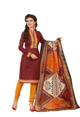 Buy Padmini Unstitched Printed Cotton Dress Material (product Code - Dtrfaaliya1002) online