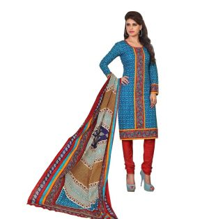 Buy Padmini Unstitched Printed Cotton Dress Material (product Code - Dtrfaaliya1004) online