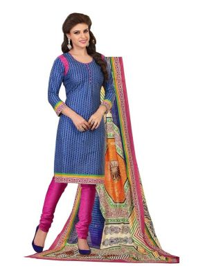 Buy Padmini Unstitched Printed Cotton Dress Material (product Code - Dtrfaaliya1008) online