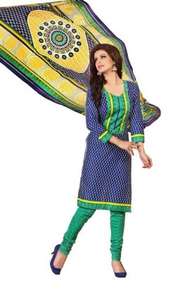 Buy Padmini Unstitched Printed Cotton Dress Material (product Code - Dtrfaaliya1010) online