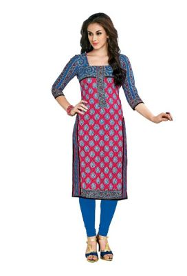 Buy Padmini Unstitched Printed Cotton Kurti Fabrics (product Code - Dtafcoolcot2111) online