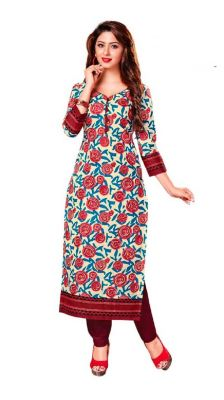 Buy Padmini Unstitched Printed Cotton Kurti Fabrics (product Code -dtkakavya1163) online